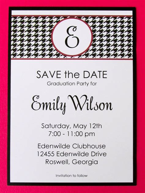 Graduation Party, Alabama Theme  Save The Dates. Mental Health Superbill Template. Black And Gold Birthday Invitations. Functional Resume Template Free Download. Beginner Acting Resume Template. Company Letterhead Template Word. Fire And Ice Theme Party. Event Reminder Email Template. Open Office Envelope Template