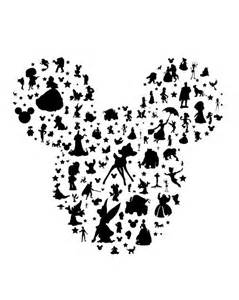 Tinkerbell Pumpkin Stencil Printable by Best 25 Mickey Silhouette Ideas On Pinterest Disney