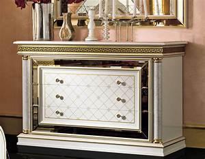 Kommode Weiß Gold : kommode wei gold zeus hochglanz schlafzimmer klassik stil m bel italien ~ Markanthonyermac.com Haus und Dekorationen