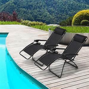2pcs, Zero, Gravity, Lounge, Chair, With, Pillow, Folding, Patio, Lawn, Recliner, Plum, Blossom, Lock