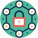 Data Governance Icon Security Management Risk Network