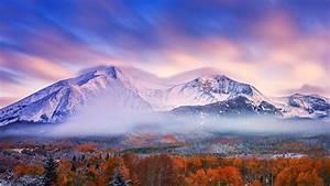 Nature, Landscape, Mountain, Mist, Snowy, Peak, Trees