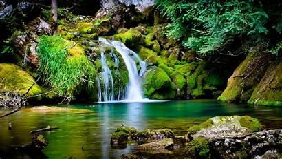 Spring Landscape Wallpapers Desktop Background Waterfall Pc
