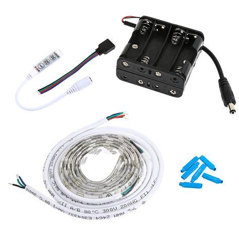 led video light kit rgb battery powered led light strips kit multicolor 2