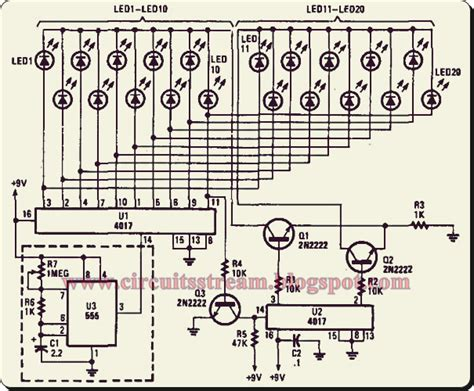 led light chaser circuit diagram simple light chaser i circuit diagram electronic circuit