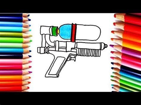 Dibujos de armas para colorear son una de las secciones más populares para los niños. Como Dibujar y Colorear una Pistola - How to Draw and Color a Gun - YouTube