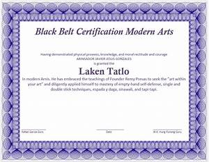 martial art certificate template microsoft word templates With martial art certificate templates free