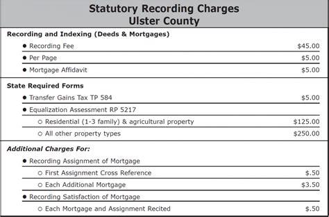 recording fee benchmark title agency llc