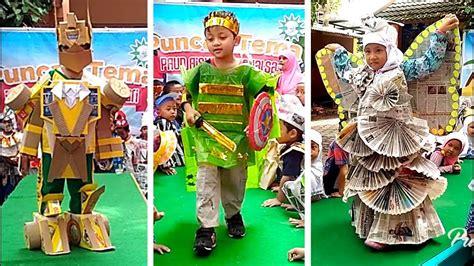 fashion show baju daur ulang  pentas anak tk kids