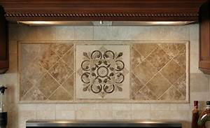 backsplash medallions With kitchen cabinets lowes with large gold metal wall art