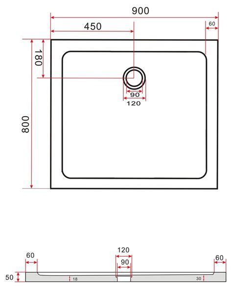 90mm to cm 80 x 90 cm duschtasse 50 mm flach acryl duschwanne dusche acrylwanne ebay