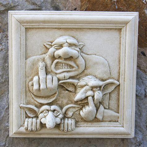 garden wall plaques goblin family wall plaque garden wall plaques
