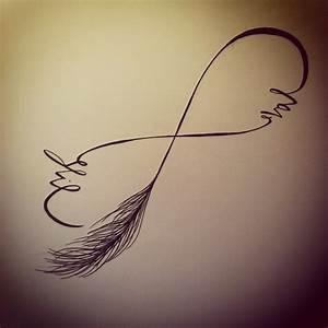 Dessin De Plume Facile : modele dessin tatouage infini plume avec mots tatouage femme ~ Melissatoandfro.com Idées de Décoration
