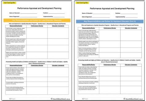 performance appraisal  development planning templates
