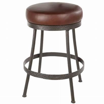 Backless Bar Stool Iron Counter Swivel Cedarvale