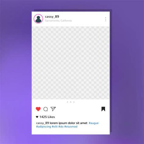 instagram post frame vorlage kostenlose vektor