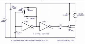 Pwm Motor Speed Control Circuit With Diagram For Dc Motor