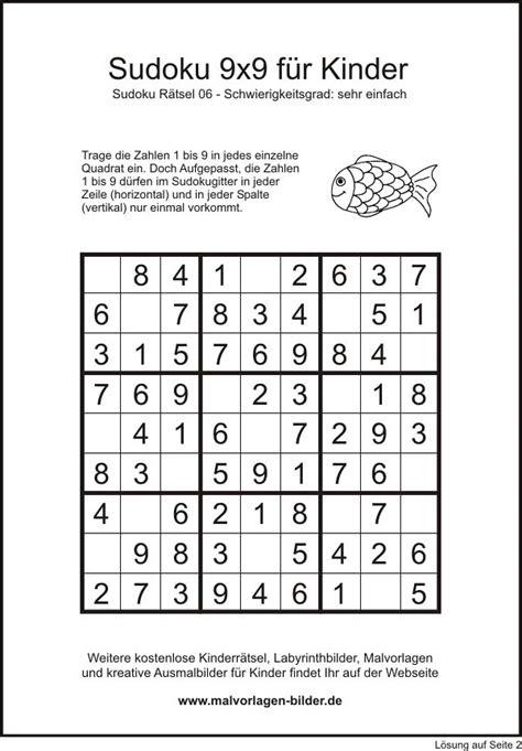 sudoku  sehr einfach fuer kinder