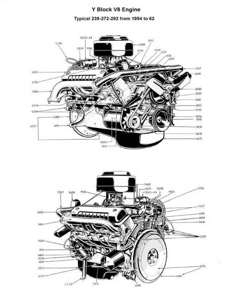 Ford V8 Engine Diagram by 44 Best Ford Y Block Images On Ford
