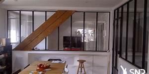 Verriere Interieure Metallique : am nagement int rieur la verriere en metal ou en bois ~ Premium-room.com Idées de Décoration