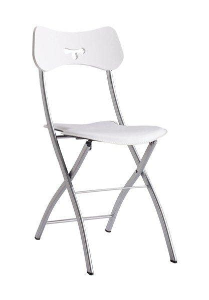 chaises pliantes design hopla lots de 2 chaises pliantes design cuir et metal chrome