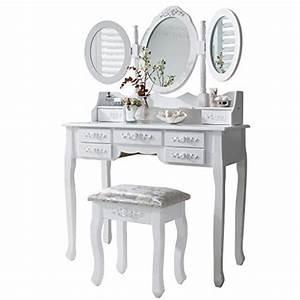 Coiffeuse 3 Miroirs : laura james monaco coiffeuse tabouret et miroir 7 tiroirs 3 miroirs offres reconditionn es ~ Teatrodelosmanantiales.com Idées de Décoration