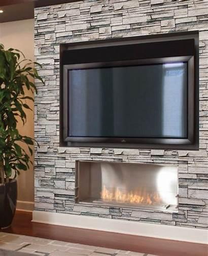 Stone Faux Fireplace Stick Wall Veneer Peel