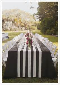 wholesale chair sashes black and white stripe cotton place setting runners or
