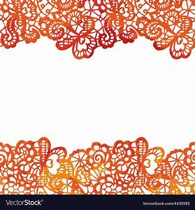 Lacy elegant border Invitation card Royalty Free Vector