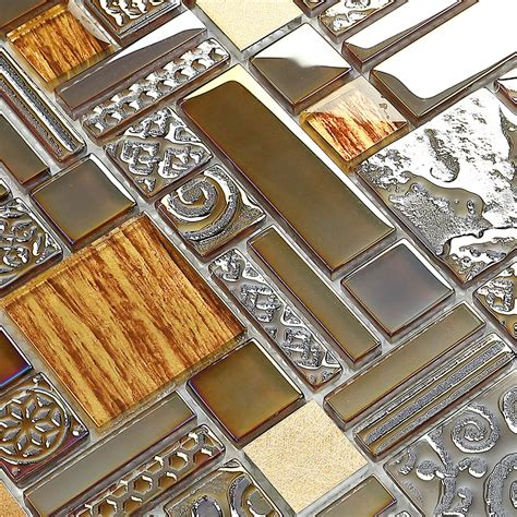 kitchen mosaic wall tiles glass mosaic kitchen tile copper aluminum tiles 5416