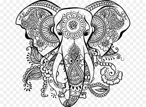 mandala elephant png    transparent