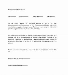 Secured promissory note templates 9 free word excel for Secured promissory note template free download