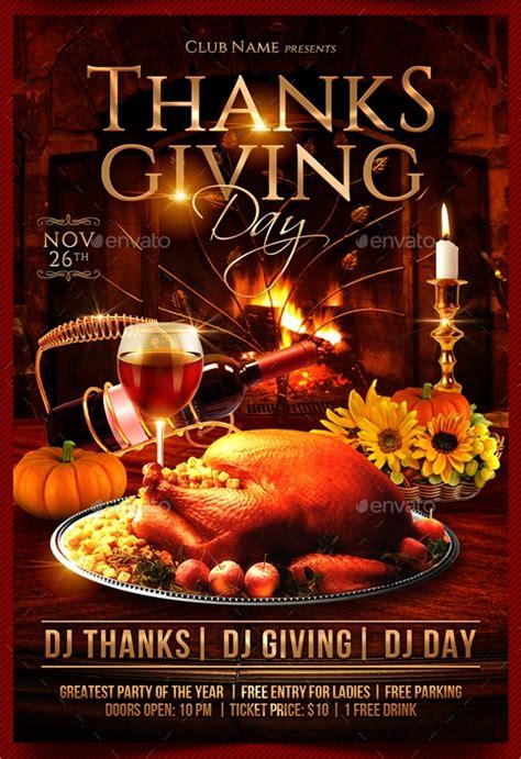 thanksgiving flyer templates psd ai vector eps