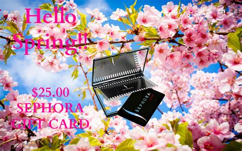Content updated daily for e gift card Hello Spring $25.00 Sephora Gift Card GIVEAWAY - Chic From ...