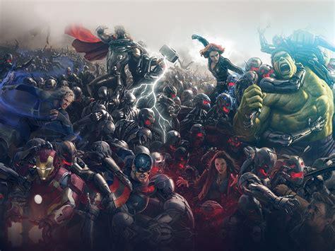 al avengers marvel hero ultron flare art wallpaper