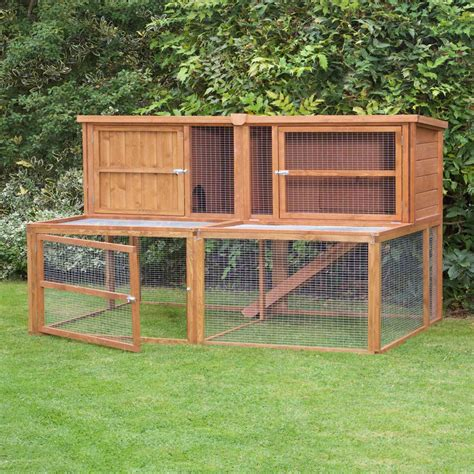 a rabbit hutch home roost 6ft kendal hutch run combo no1 by