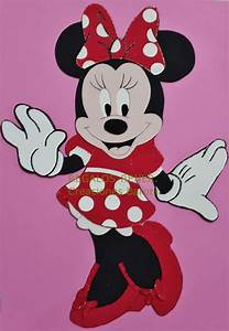 Foami Minnie. Minnie en goma eva 55 cm | Wall Birthday ...
