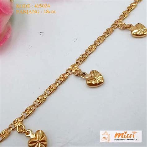 aksesoris gelang tangan jual missi aksesoris gelang tangan rantai s 415024 emas imitasi di lapak missi fashion
