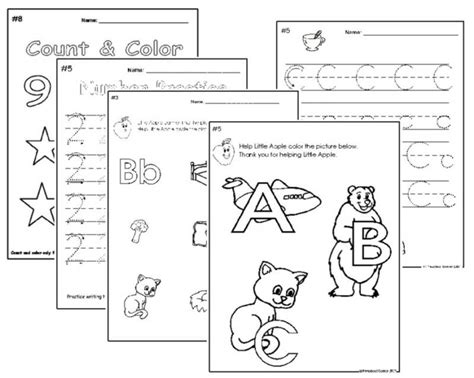 10 best images of school readiness worksheets preschool