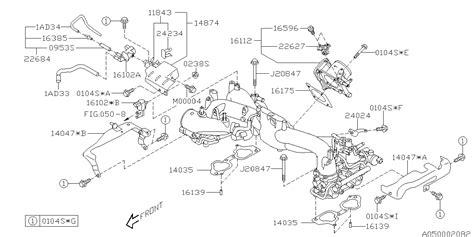 Subaru Intake Manifold Diagram by 16175aa440 Genuine Subaru Gasket Throttle Chamber