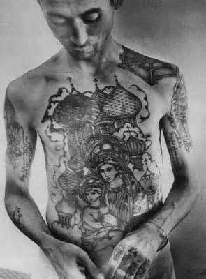 20 Dark and Real Prison Tattoo Designs | Carnage | Russian prison tattoos, Russian mafia tattoos