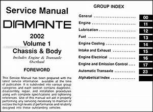 2002 Mitsubishi Diamante Original Repair Shop Manual 2 Vol