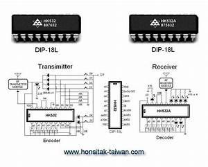 encoder decoder ic hk532 dip 18l encoder decoder ic With decoder encoder