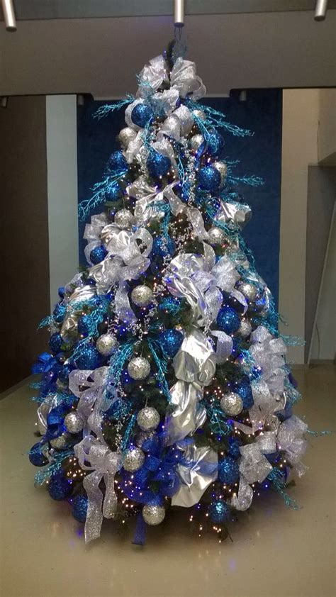 silver blue tree christmas blue christmas tree