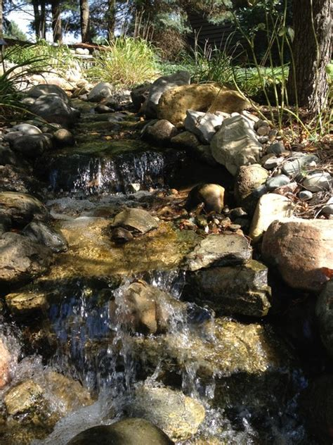 pondless stream  waterfall rustic landscape detroit