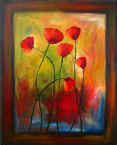 Abstract Art Poppies