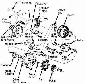 Alternator - Delco W  Integral Regulator    1984