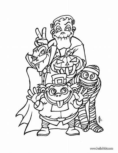 Coloring Pages Creepy Doll Halloween Monsters Spooky