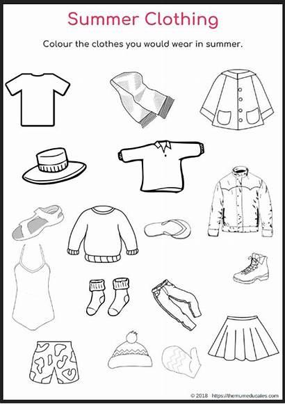 Summer Clothing Season Colour Children Suitable Clothes