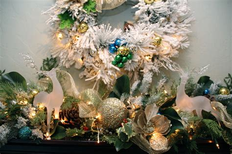 christmas decorating inspiration with flocked trees